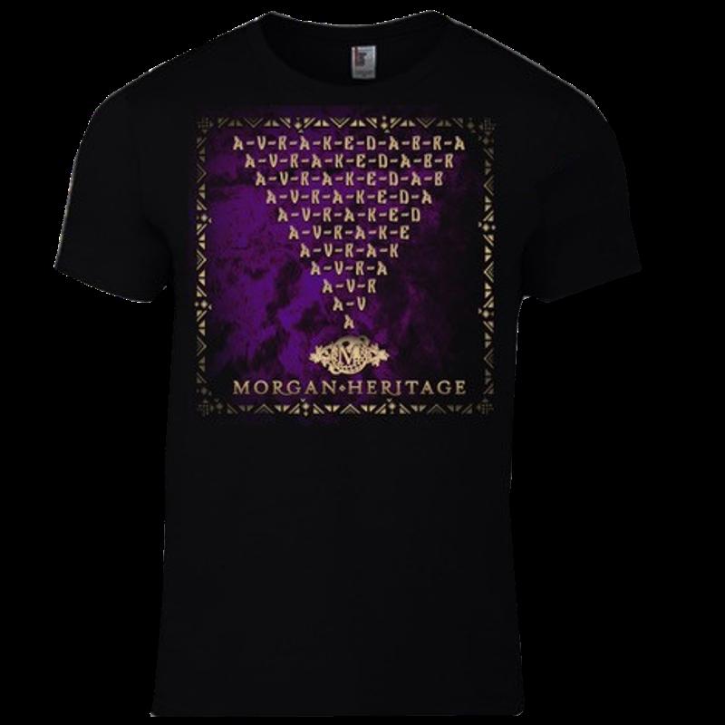 Morgan Heritage Black Avrakedabra Album Cover Tee