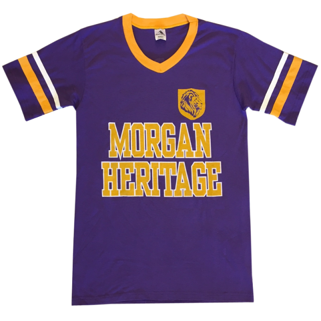 Morgan Heritage Purple V Neck Jersey