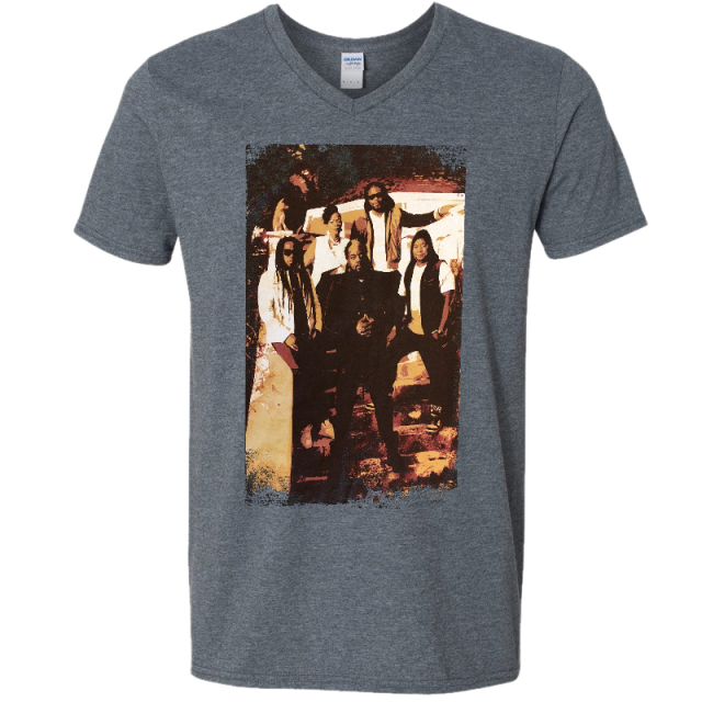 Morgan Heritage Unisex Dark Heather V Neck Tee