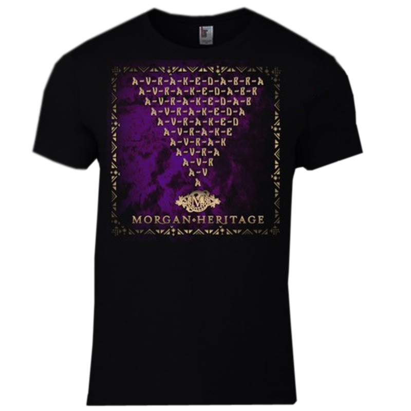 Morgan Heritage Black Avrakedabra Album Cover Tee