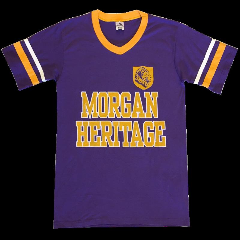 Morgan Heritage Purple V Neck Jersey